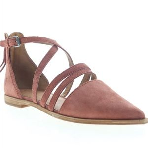 ⭐️Frye Kenzie Moto Strappy Suede Strap Flats Shoes